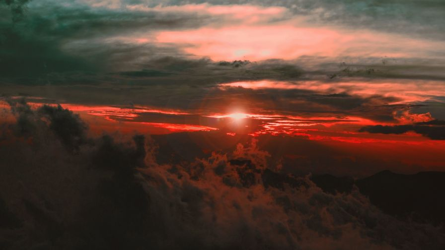 Clouds over the sunset HD Wallpaper