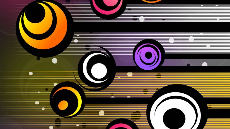 Colored circles HD Wallpaper