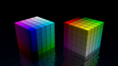 Colorful cubes HD Wallpaper