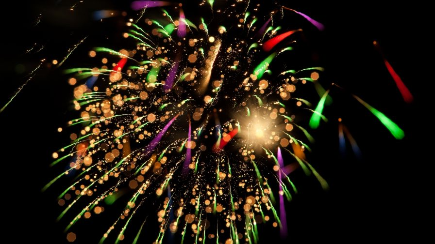 Colorful fireworks HD Wallpaper