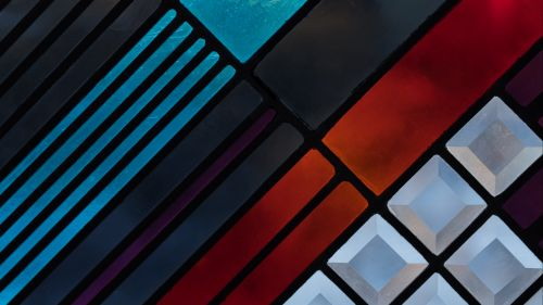 Colorful geometric shapes HD Wallpaper