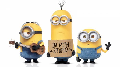 Cute Minions Background Hd Wallpaper for Desktop and Mobiles