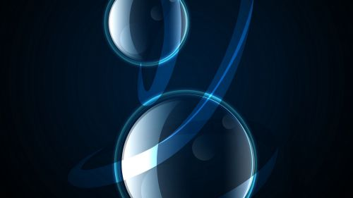 Dark blue circles HD Wallpaper