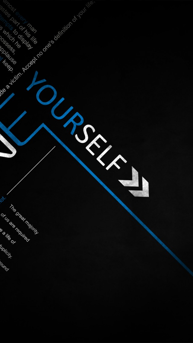 Define Yourself Success Quote Wallpaper for Desktop and Mobiles