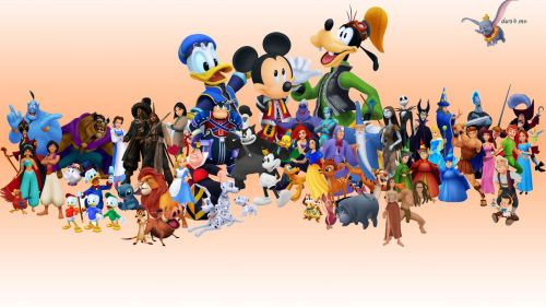 Disney World Characters Hd Wallpaper for Desktop and Mobiles