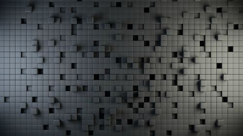 Download 3D & Geometric Black Cube Wallpaper
