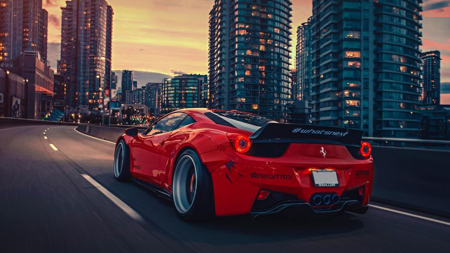Download Liberty Walk HD 458 Ferrari Wallpaper for Desktop and Mobiles