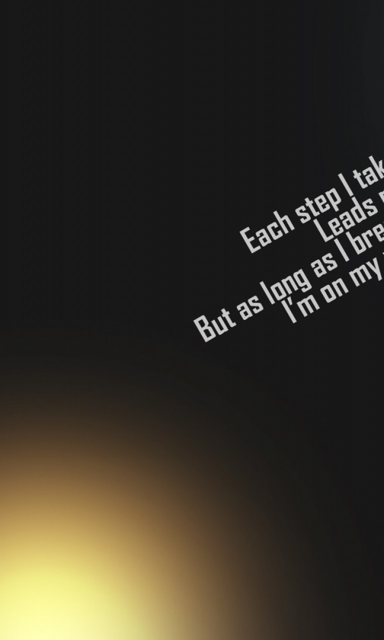 Each step I take may it hurt HD Wallpaper