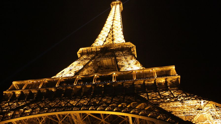 Eiffel Tower at Night Wallpaper for Desktop and Mobiles