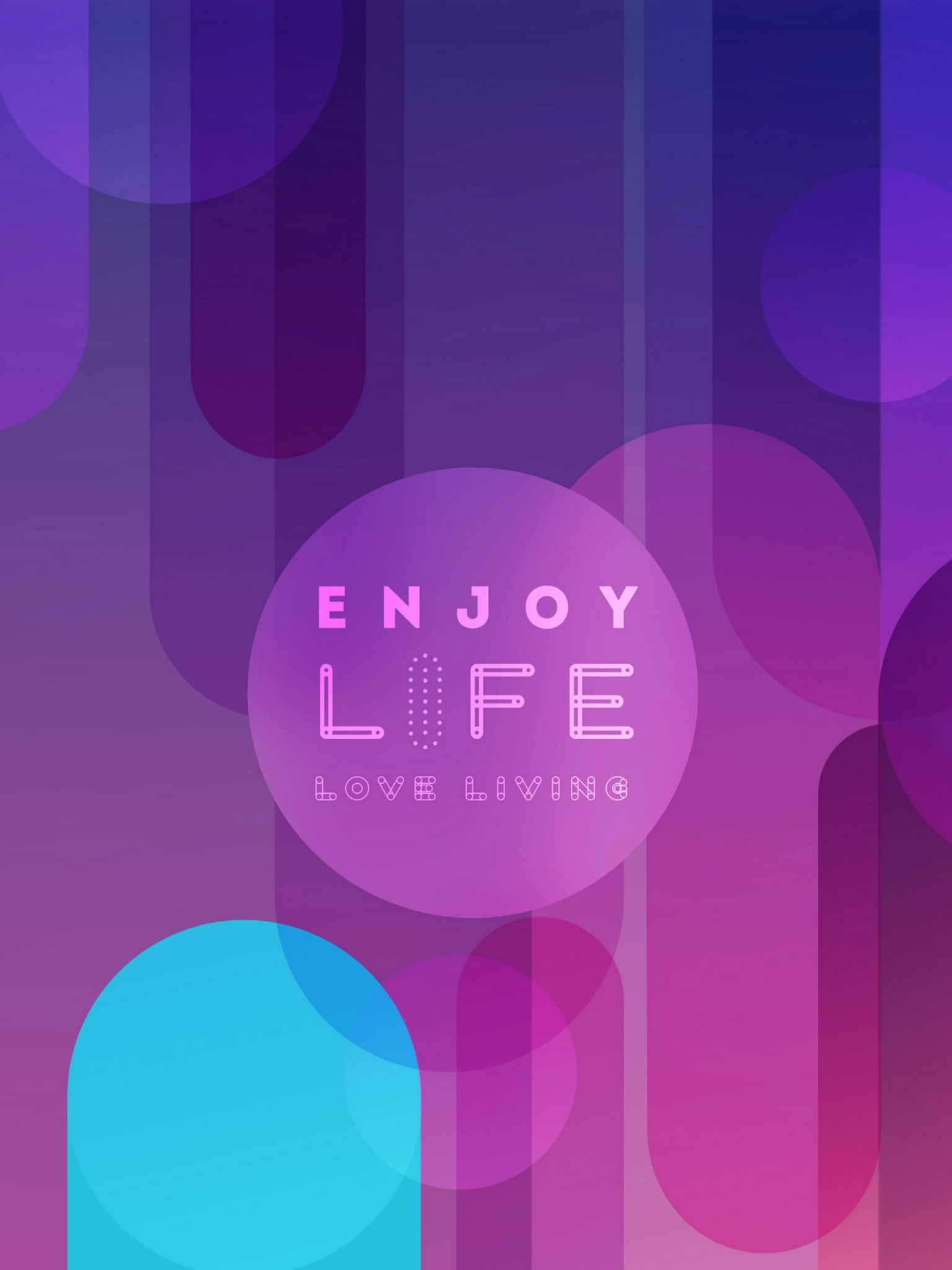 Enjoy Life Love Living Quotes Wallpaper for Desktop and Mobiles