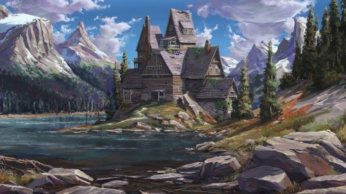 Fantasy house HD Wallpaper