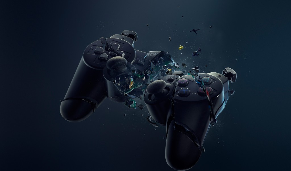 Free Broken Playstation Controller Hd Wallpaper for Desktop and Mobiles