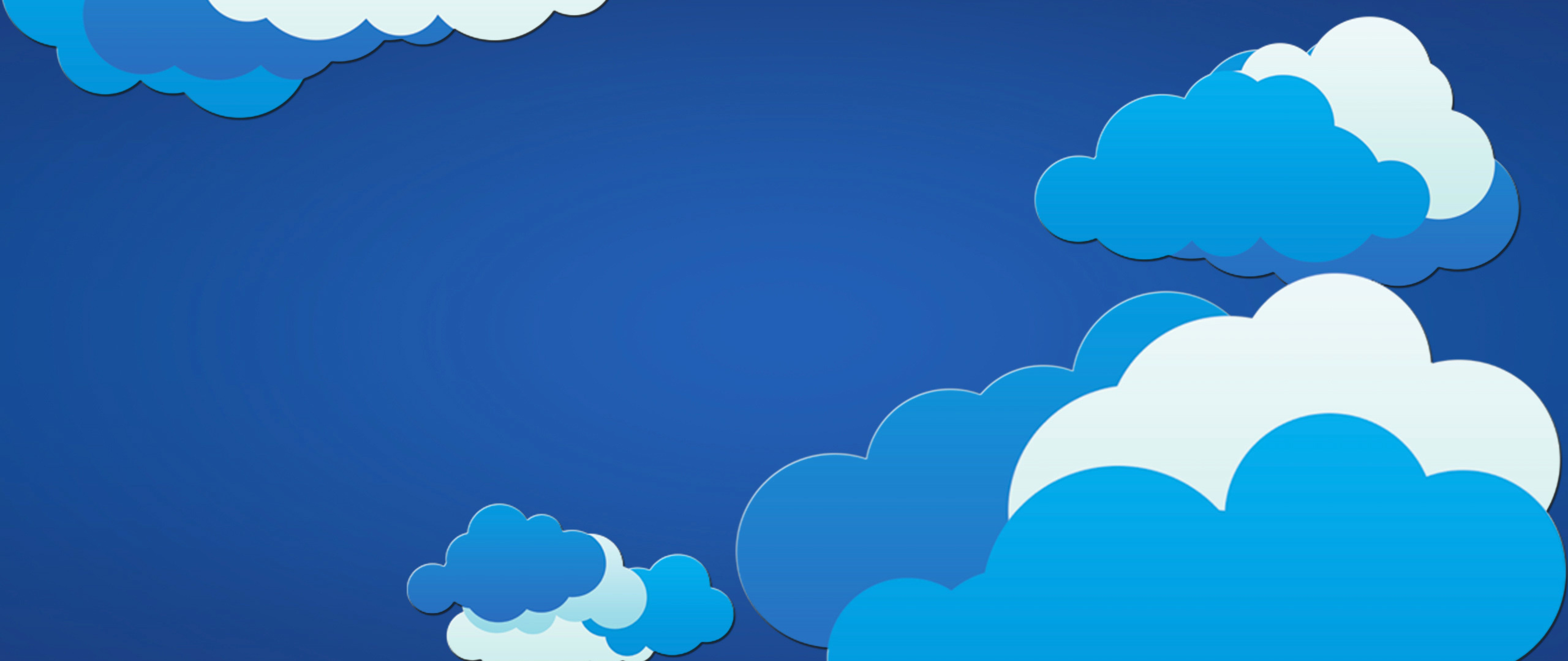 Free Clouds Vector Art Wallpaper for Desktop and Mobiles