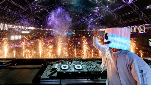 Free Download Marshmello Live Concert Wallpaper for Desktop and Mobiles