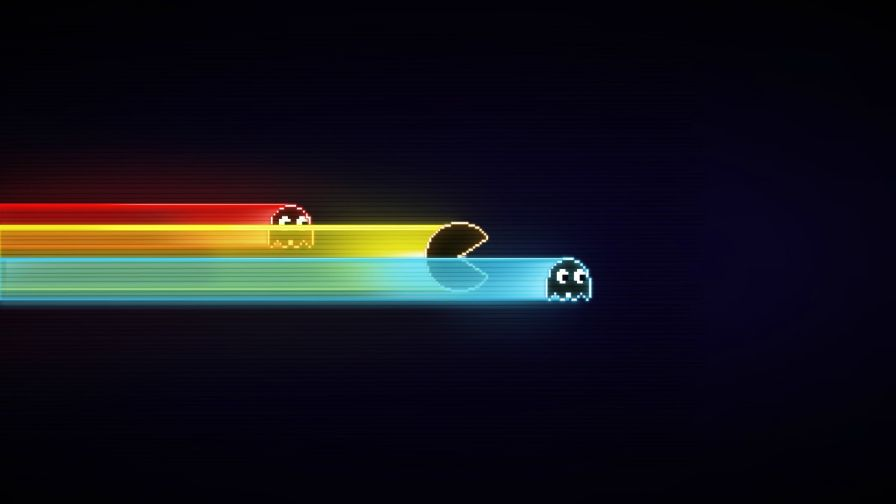 Free Download Retro Pac Man Hd Wallpaper for Desktop and Mobiles