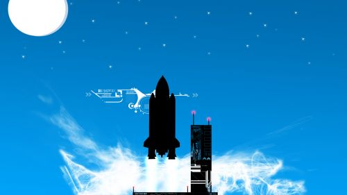 Free Download Rocket Ship Vector Hd Wallpaper for Desktop and Mobiles