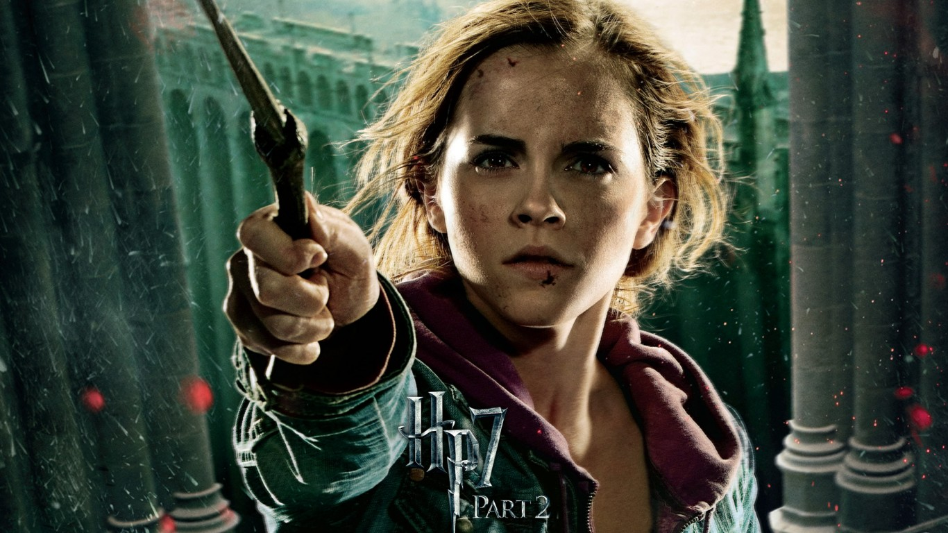 Free Emma Watson in The Deathly Hallows Part 2 Wallpaper for Desktop and Mobiles