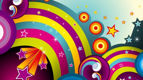 Free Rainbow Vector Hd Wallpaper for Desktop and Mobiles