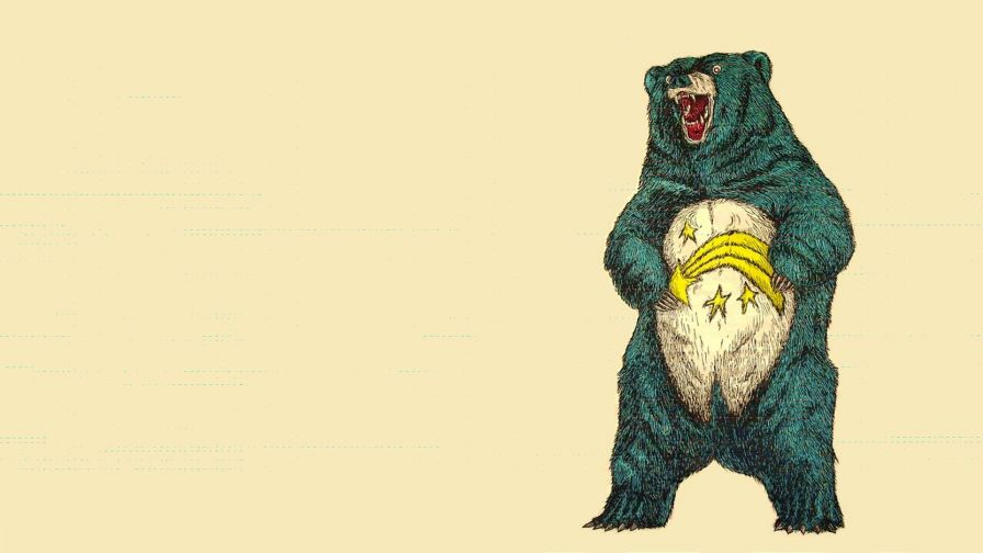 Funky Bear Drawing Wallpaper for Desktop and Mobiles
