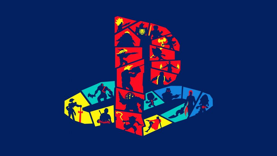 Funky Playstation Logo Wallpaper for Desktop and Mobiles