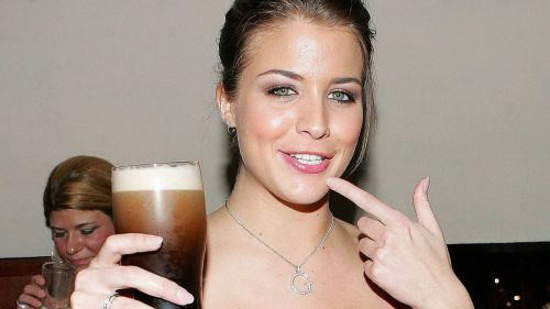 Gemma Atkinson drinks beer  HD Wallpaper