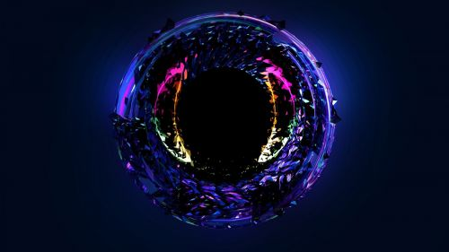 Glowing neon circle HD Wallpaper