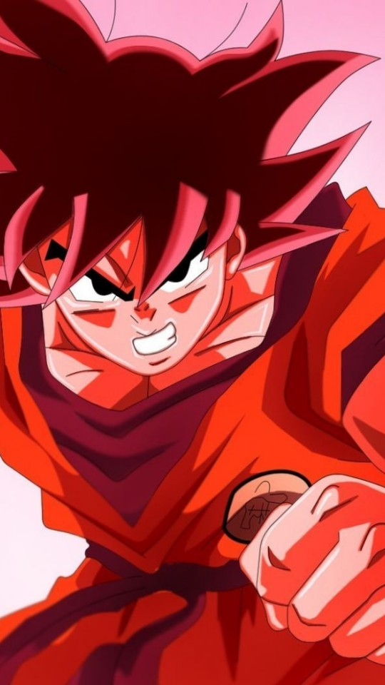 Goku Red Dragonball Z Wallpaper for Desktop and Mobiles