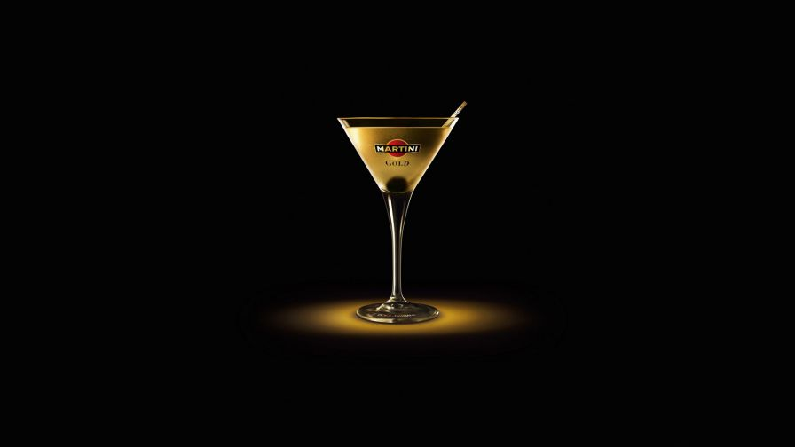 Gold Martini HD Wallpaper