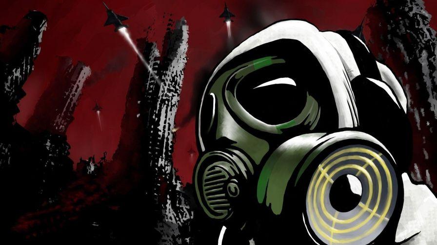 Graffiti Gas Mask Hd Wallpaper Wallpapersnet