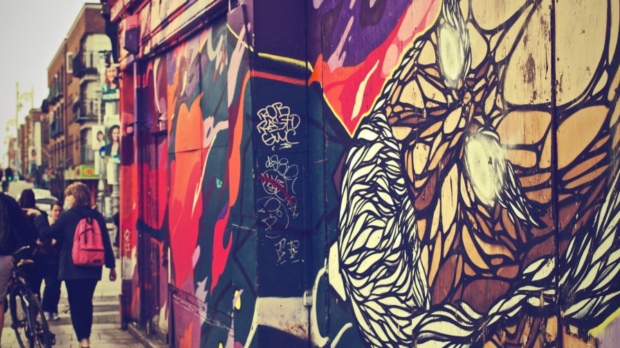 Graffiti Wall Murals Wallpaper for Desktop and Mobiles