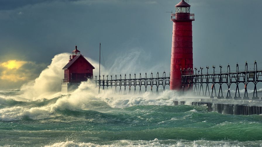 Grand Haven Light HD Wallpaper