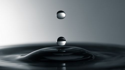 Gray liquid drops HD Wallpaper