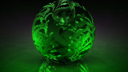 Green glass ball HD Wallpaper