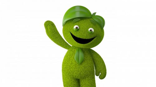 Green monster smiling HD Wallpaper