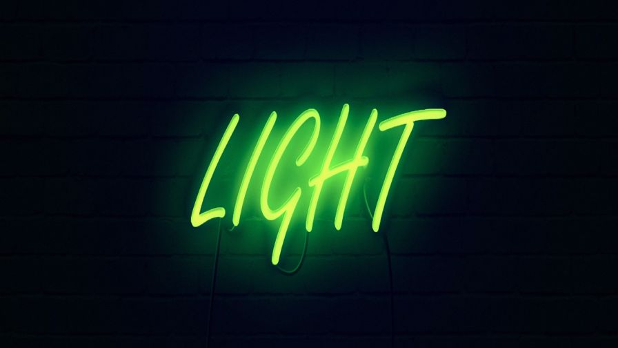 Green neon sign HD Wallpaper
