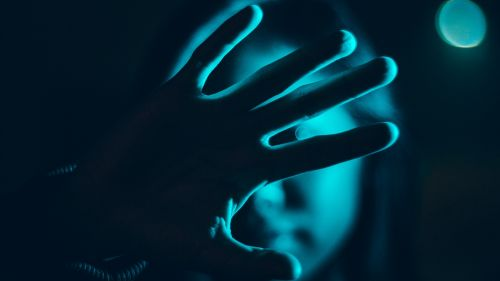 Hand at dark HD Wallpaper