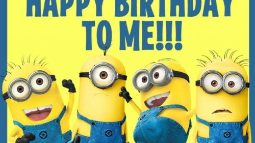 Happy Birthday to me Wallpaper (Minions Edition)