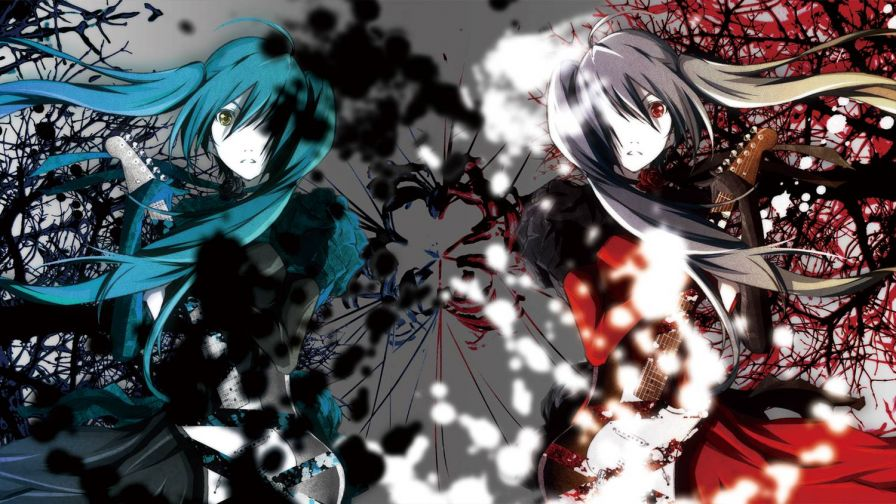 Hatsune Miku Dual Screen HD Wallpaper