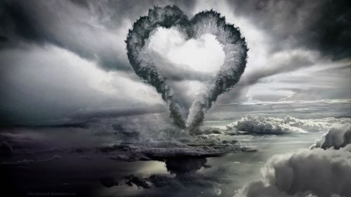 Heart shaped cloud HD Wallpaper