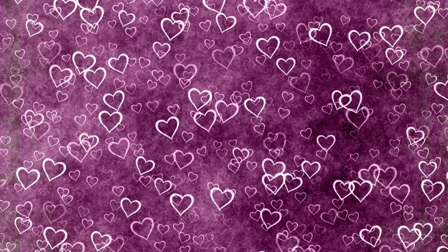 Hearts on a purple backround HD Wallpaper