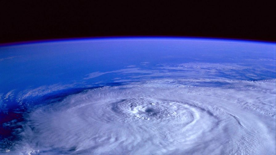 Hurricane view from space HD Wallpaper