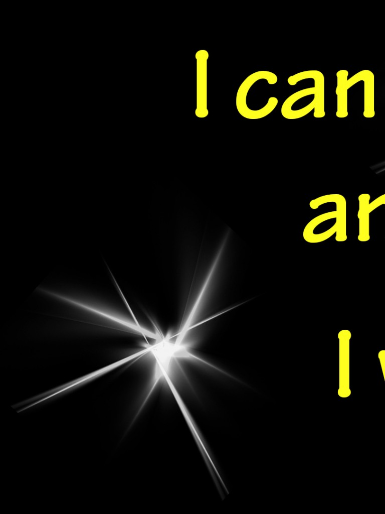 I can and I will HD Wallpaper