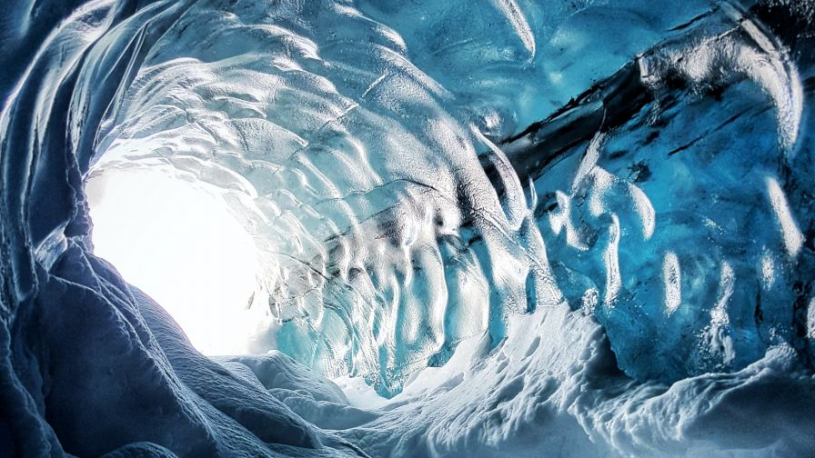 Icelands Ice Cave Hd Wallpaper Wallpapersnet