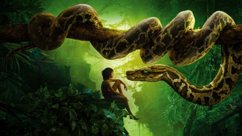 Jungle Book Snake Kaa Mowgli Hd Wallpaper for Desktop and Mobiles