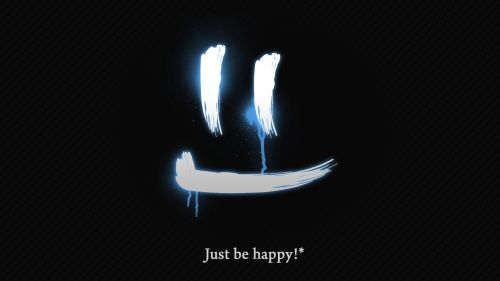 Just be happy HD Wallpaper