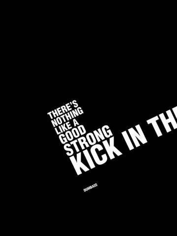 Kick in the face HD Wallpaper