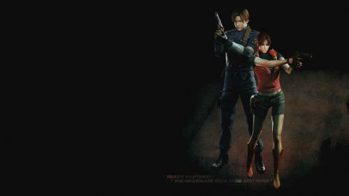 Leon & Claire HD Wallpaper