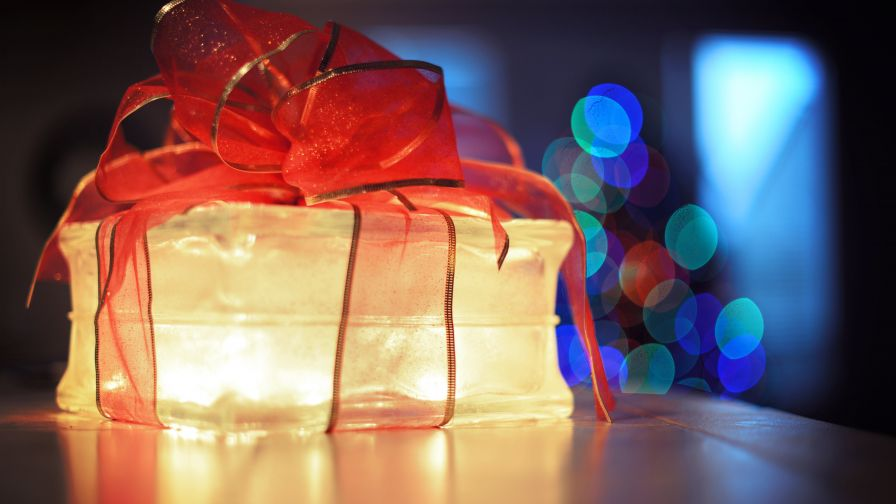 Lighted Gift Box HD Wallpaper