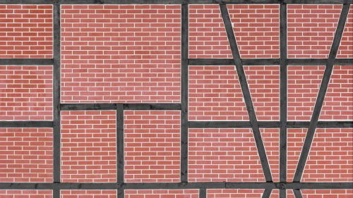 Lines on a brick wall HD Wallpaper