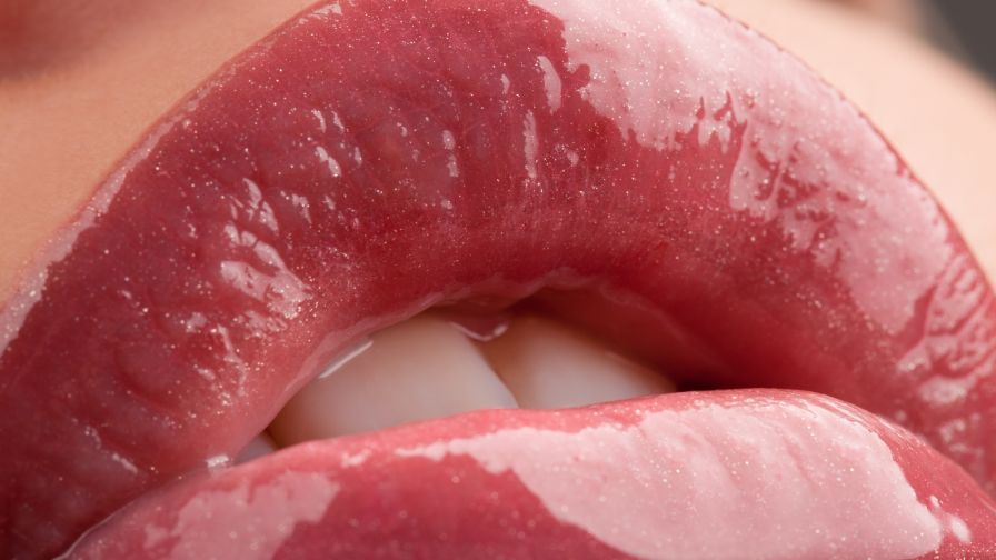 Lips and Mouth Close Up  HD Wallpaper